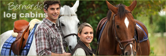 horse riding available at Bernard's Log Cabins