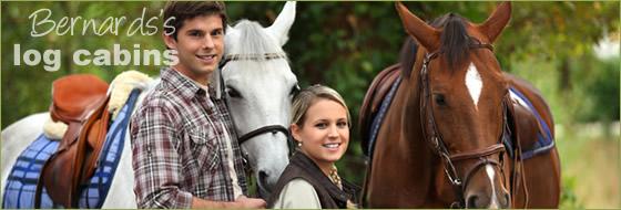 horse riding available at Bernard's Log Cabins
